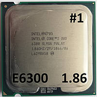 Процессор ЛОТ#1 Intel® Core™2 Duo E6300 B2 SL9SA 1.86GHz 2M Cache 1066 MHz FSB Socket 775 Б/У, фото 1