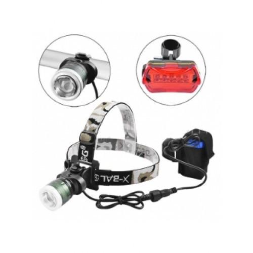 Велокомплект+фонарь налобный POLICE BL-B02B-T6