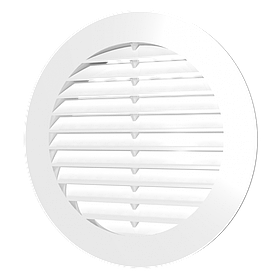 Решетка вытяжная Эра круглая наклоненные жалюзи d 150 мм фланец d 125 мм (60-061)
