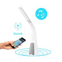 Настольная умная лампа Intelite DL7 9W (USB, димминг, температура, звук) белая DL7-9W-WT