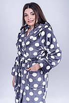 / Размер 44,46,48,50,52 / Женский махровый халат Моника, короткий, пушистый,с удобным капюшоном, фото 2