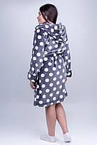 / Размер 44,46,48,50,52 / Женский махровый халат Моника, короткий, пушистый,с удобным капюшоном, фото 3