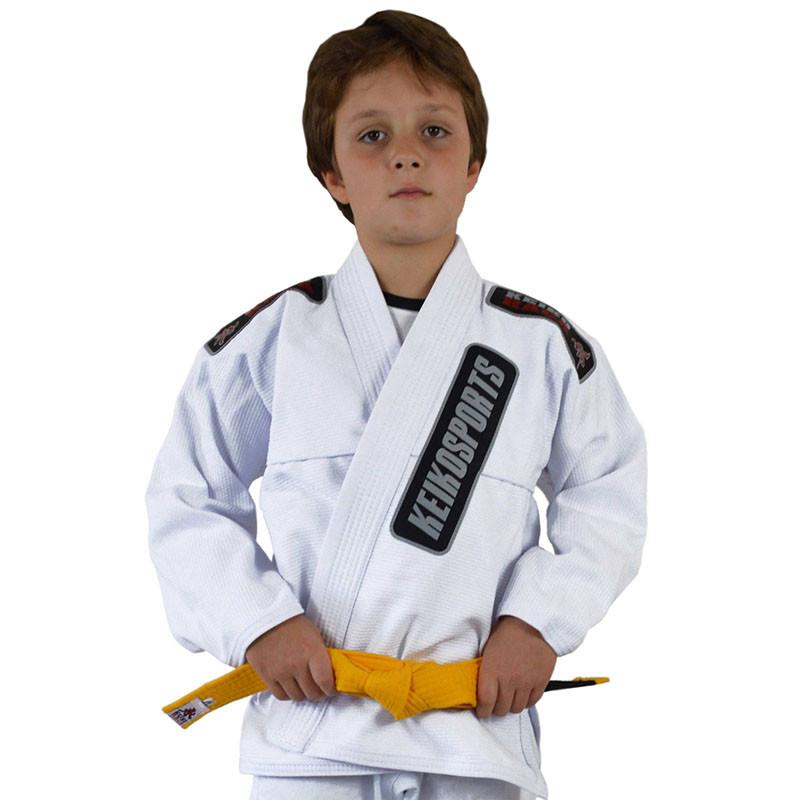 Детское кимоно для бразильского Джиу-Джитсу KEIKO Juvenile Белое