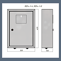 Ящик обліку та розподілення ЯОРн-1/8 IP31 - АДД-Енергія