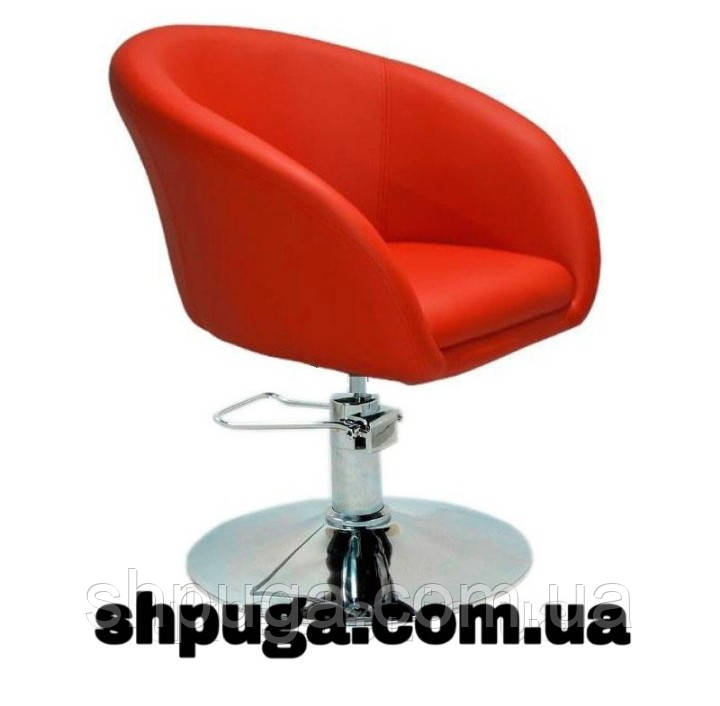 Кресло парикмахерское Мурат P красный гидравлика