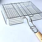 Решетка для гриля на мангал из нерважейки (31*25 см), фото 3
