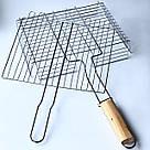 Решетка для гриля на мангал из нерважейки (31*25 см), фото 2