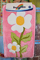 """Коврик для ванной """"Banyolin"""", розовый с цветком, производство Турция, фото 1"""