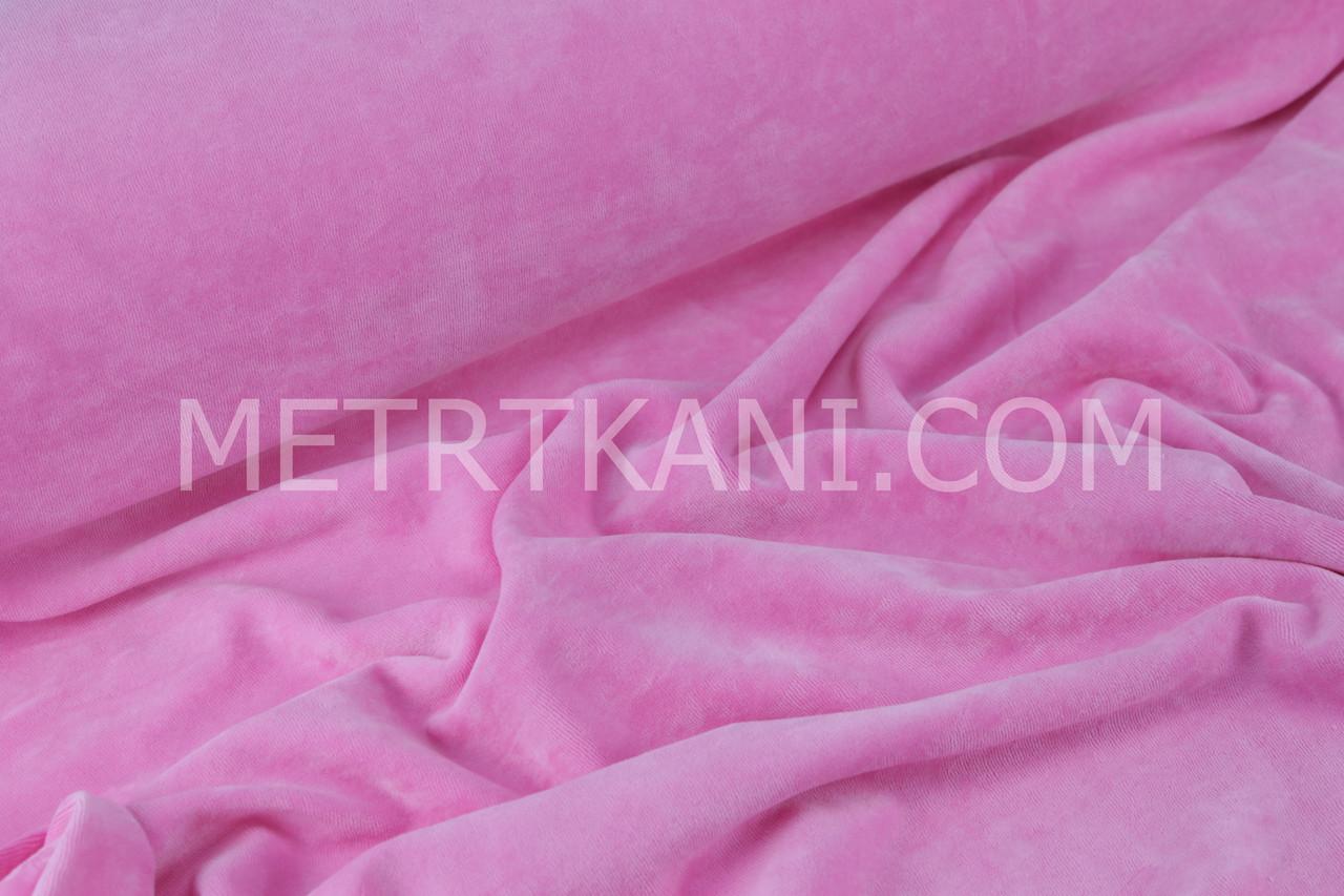 Велюр х/б темно-розового цвета, ширина 180см № В-09