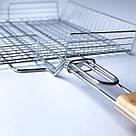 Решетка для гриля на мангал из нерважейки (36*32 см) + веер, фото 3