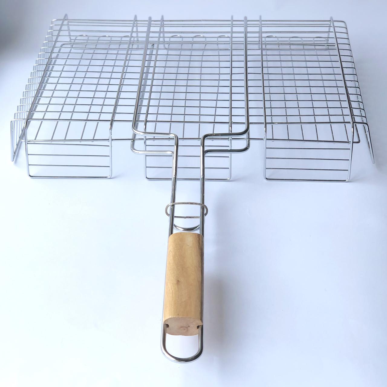 Решетка для гриля на мангал из нерважейки (43*33 см)
