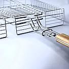 Решетка для гриля на мангал из нерважейки (43*33 см), фото 2