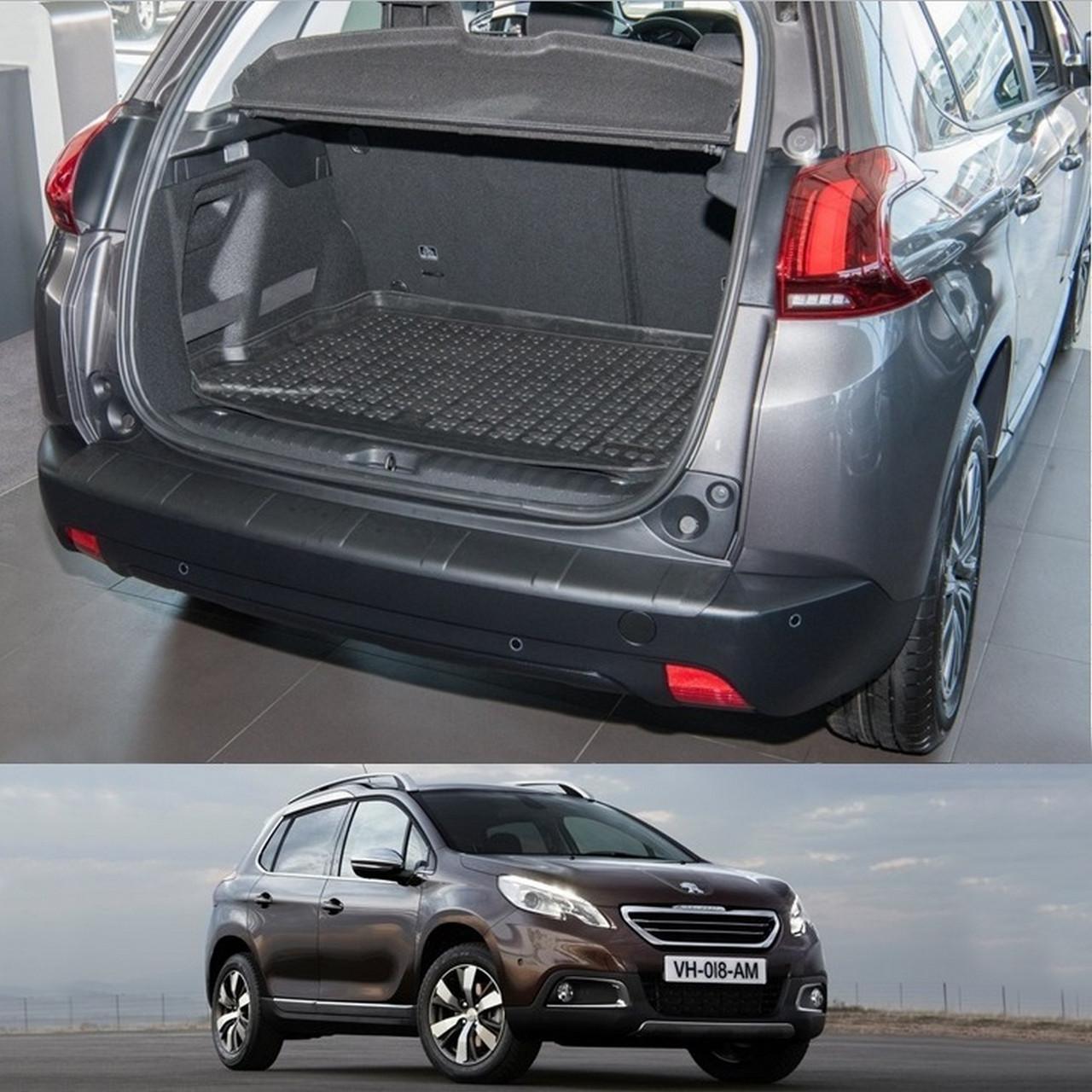 Peugeot 2008 2013+ пластиковая накладка заднего бампера