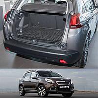 Peugeot 2008 2013+ пластиковая накладка заднего бампера , фото 1
