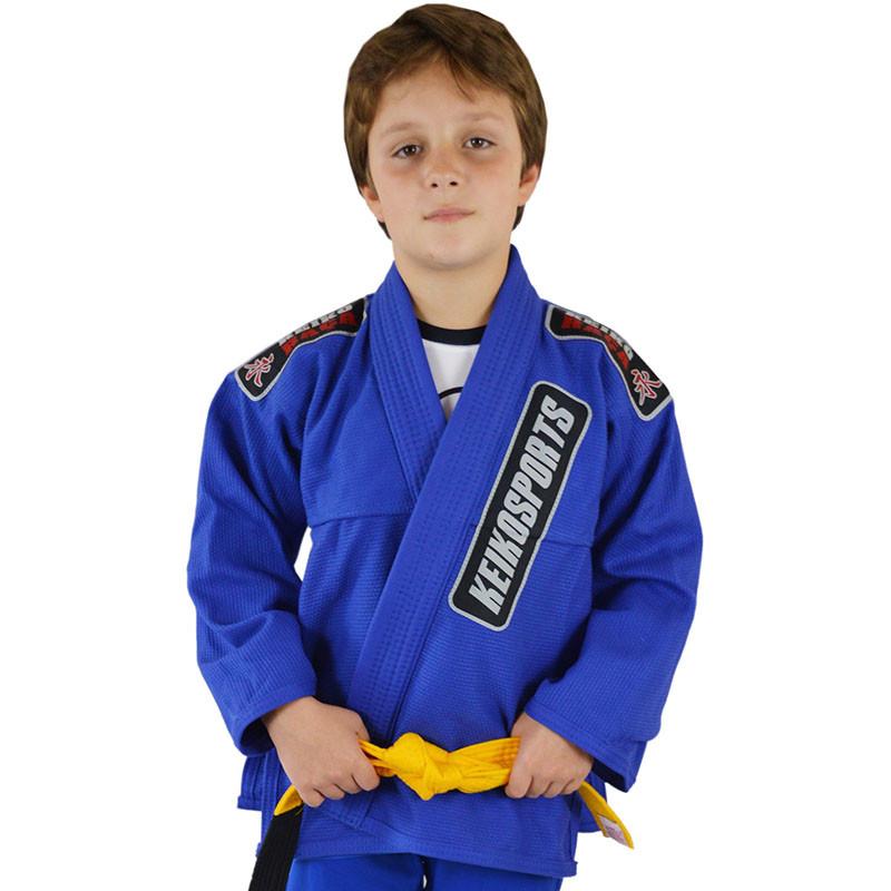 Детское кимоно для бразильского Джиу-Джитсу KEIKO Juvenile Синее