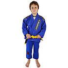 Детское кимоно для бразильского Джиу-Джитсу KEIKO Juvenile Синее, фото 3