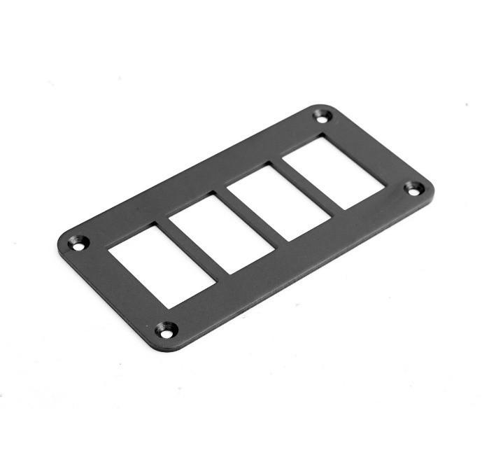 Алюминиевая панель на 4 переключателя  12 YuJ