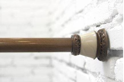Карниз для шторки в ванную длинна 85-135см. 0771