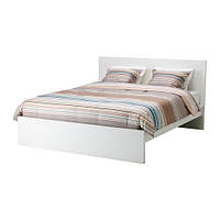 Каркас кровати IKEA MALM 140x200 см высокий белый Lönset 690.190.83