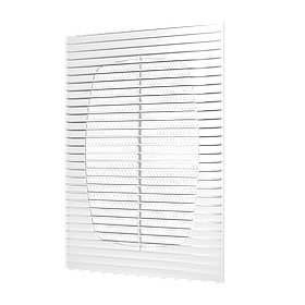 Решетка приточно-вытяжная Эра ABS с москитной сеткой 194 х 194 мм (60-006)