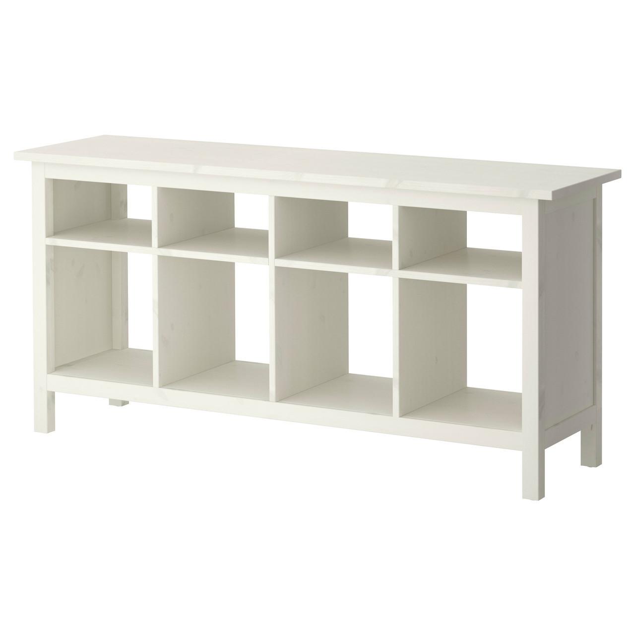Столик IKEA HEMNES высокий с полками белый 002.518.14