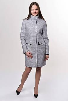 Пальто женское  Татьяна Филатова модель 191  светло серое