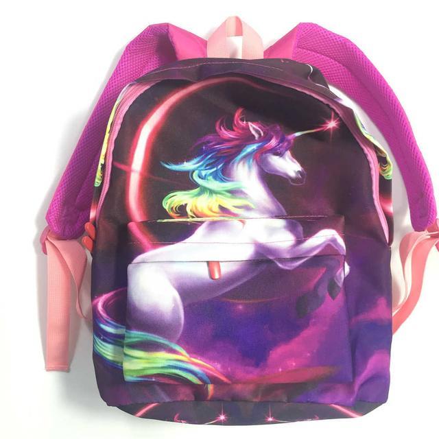 Рюкзак единорог с радужной гривой и розовойспинкой