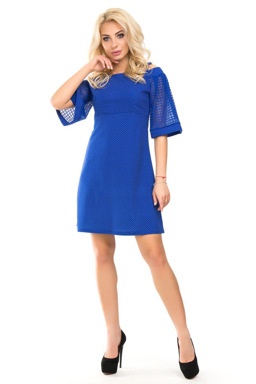Модное платье миди на весну 44-50 (в расцветках)