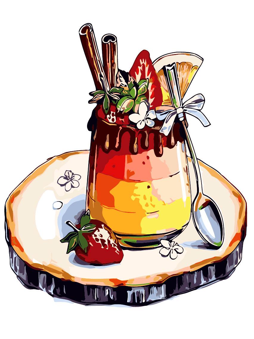 Художественный творческий набор, картина по номерам Любимый десерт, 30x40 см, «Art Story» (AS0314)