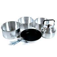 Набор туристической посуды KingCamp Camper 4 (CAMPER 4(KP3903) Silver)