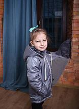 Куртка для девочки пошита из плащевки, детская куртка на синтепоне, фото 3