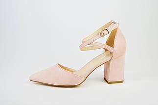 Туфли с заостренным носком пудра  Sea Star 5940, фото 2