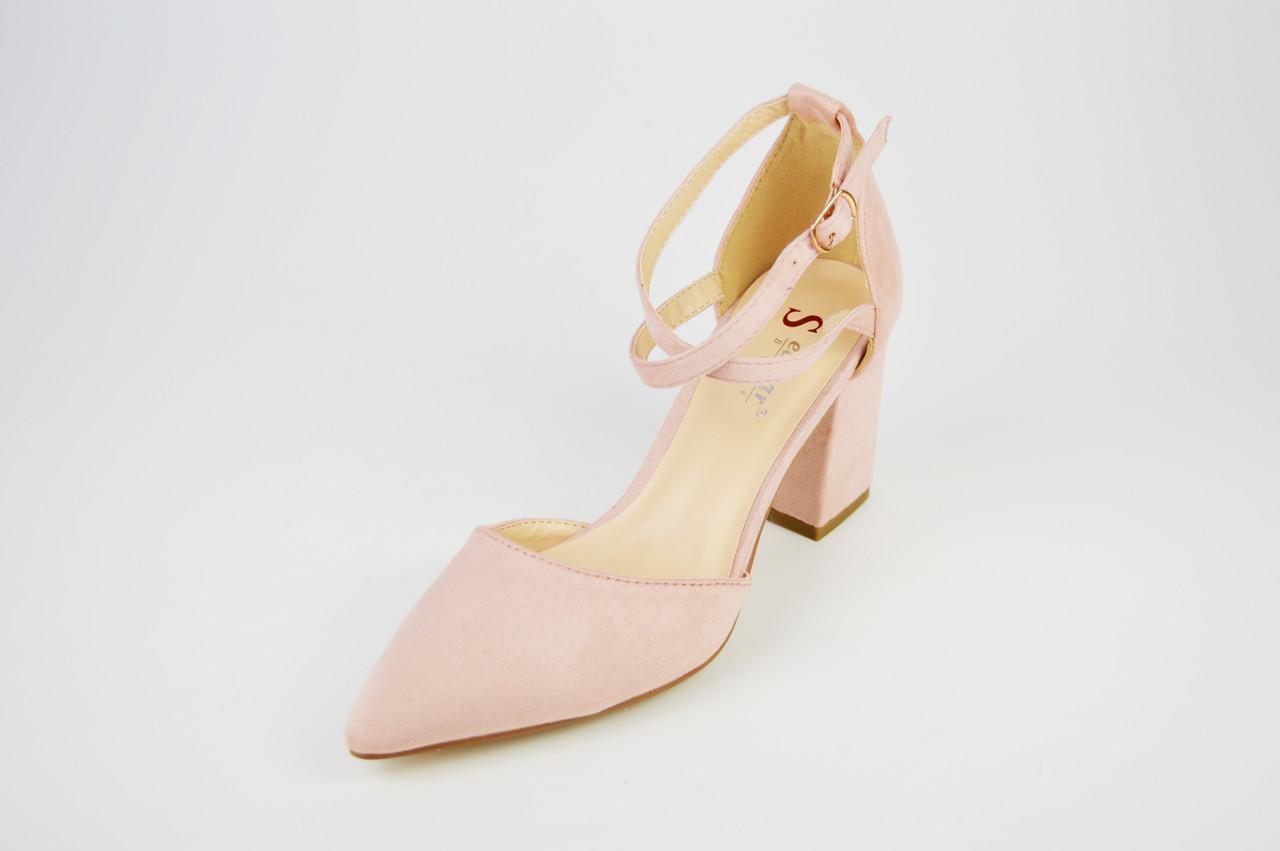 Туфли с заостренным носком пудра  Sea Star 5940