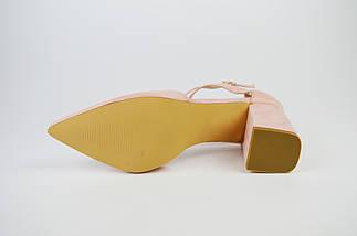 Туфли с заостренным носком пудра  Sea Star 5940, фото 3