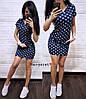 Платье  с капюшоном и карманами, трикотаж. Размер: С (42-44), М (44-46). Цвет: синий (6194), фото 2
