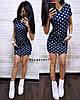 Платье  с капюшоном и карманами, трикотаж. Размер: С (42-44), М (44-46). Цвет: синий (6194), фото 3
