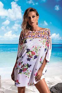 Жіноча пляжна туніка з рукавом 3/4 Miss Marea 18466