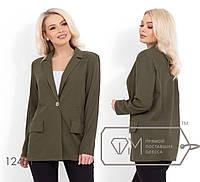 Льняной удлиненный пиджак с плечиками, без подклада 12451