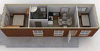 Дачный домик из 20 фут контейнера, бытовка, вагончик