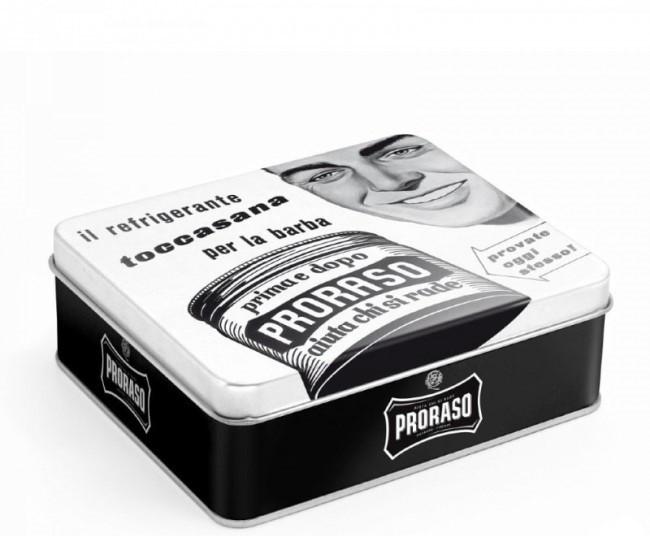 Набор для бритья в металлической коробке Proraso Vintage Selection Toccasana