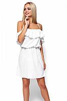 (S-M) S-M | Витончене біле повсякденне плаття Dinaly S-M