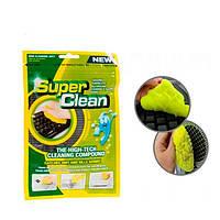 Гель липучка для чищення клавіатури Super Clean NoName Super Clean Green