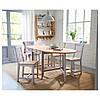 Стол IKEA GAMLEBY откидной морилка светлая патина серый 602.470.27, фото 2