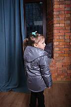 Осенняя, демисезонная, весна-осень детская куртка с капюшоном серая Новинка Топ продаж 2019-2020, фото 3
