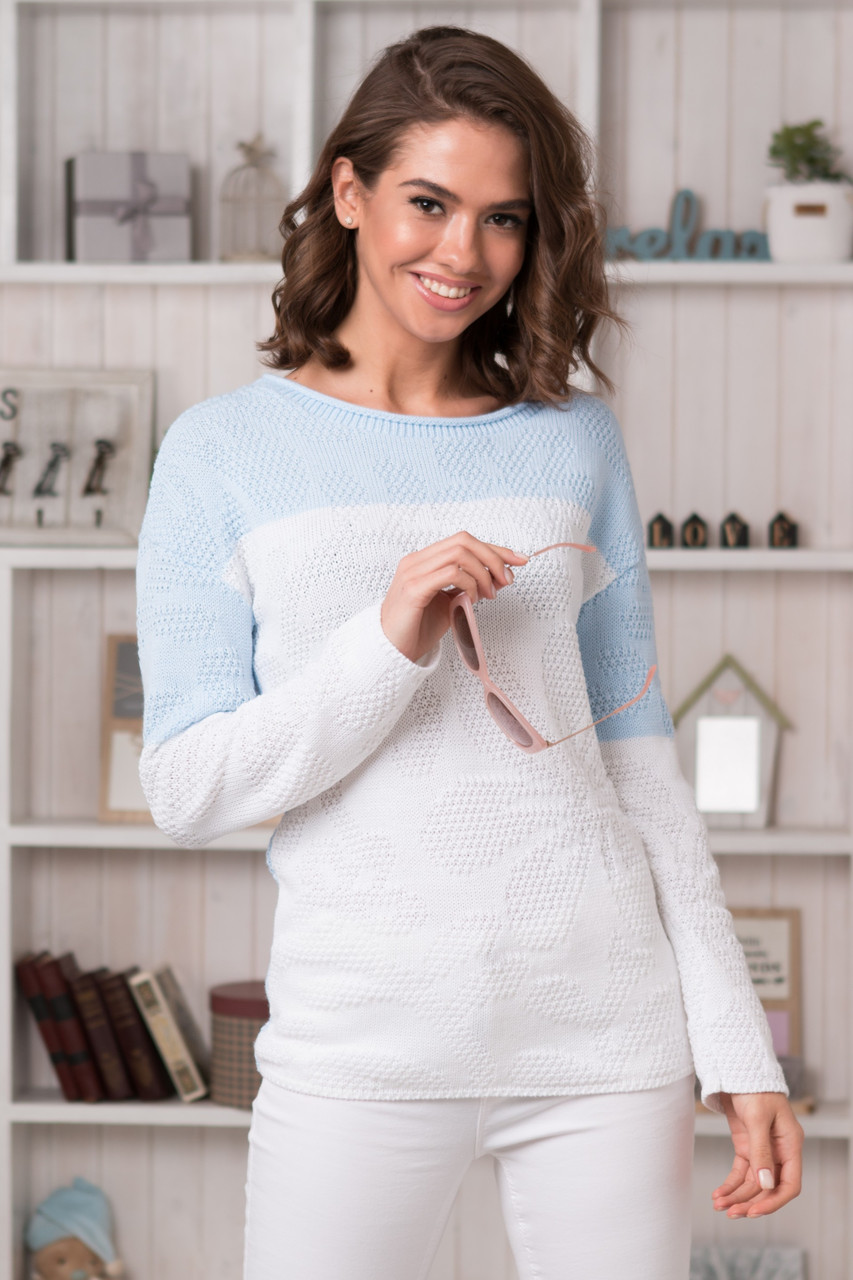 2ade5ce5bc76 Женский двухцветный удлиненный пуловер (в расцветках) - купить по лучшей  цене в ...