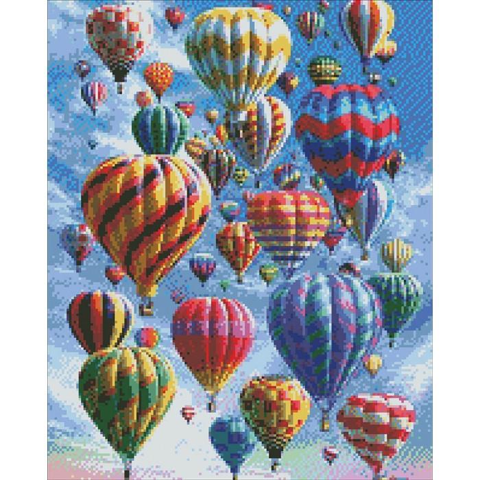Алмазная вышивка Воздушные шары,  40х50 см