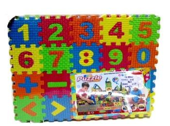 Пазли Фомові GM1710274 цифри, 60 деталей, товщина 0,8 см, в плівці 25*2,4*20,5 см