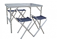 Стол со стульями KingCamp TABLE AND CHAIR SET (TABLE AND CHAIR SET(KC3850) Silver)