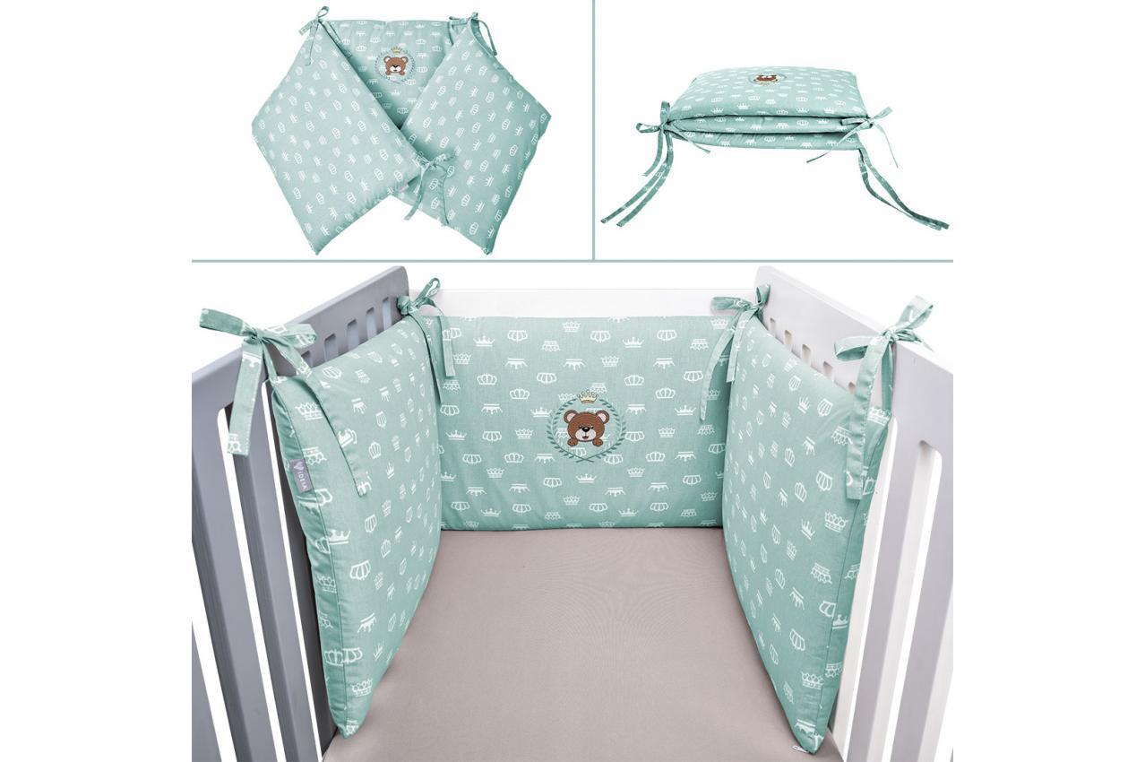 Защитный бортик в кроватку мята