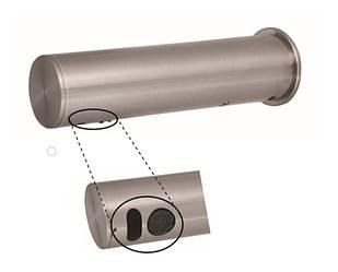 Сенсорный смеситель Sanela SLU 43B / Змішувач для умивальника настінний, сенсорний, 6 В, нержавіюча сталь